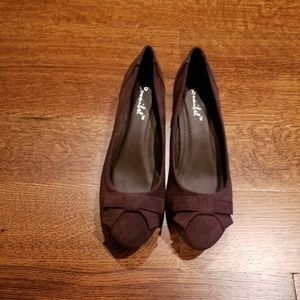 NWOT - Bonnibel brown suede wedge shoes